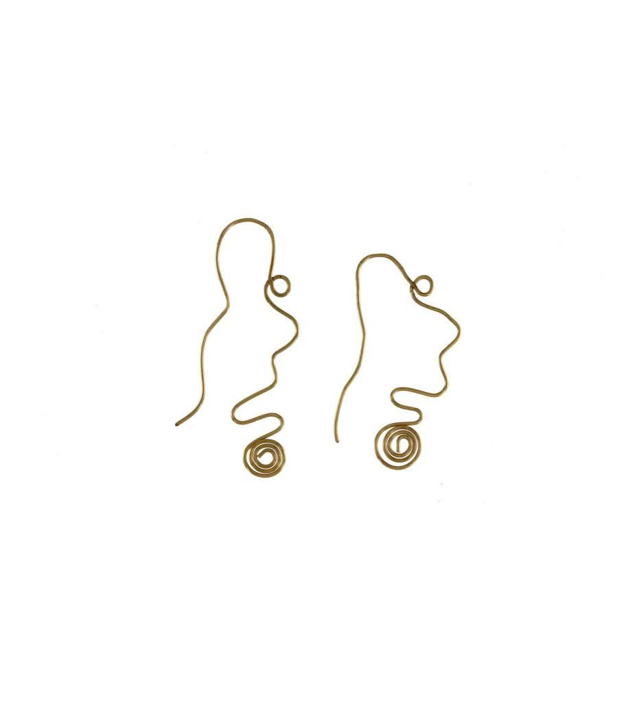 *GJ Wacky Wire Earrings