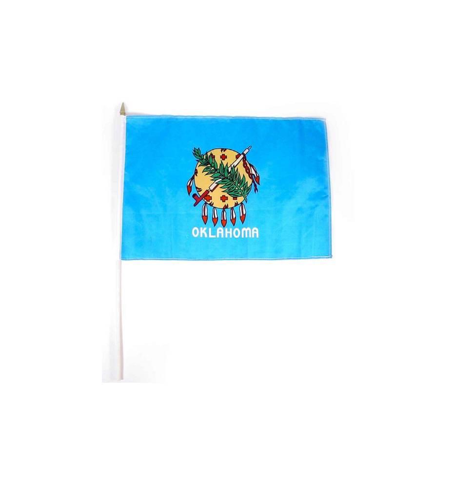 OK 12'' X 18'' Flag on Stick