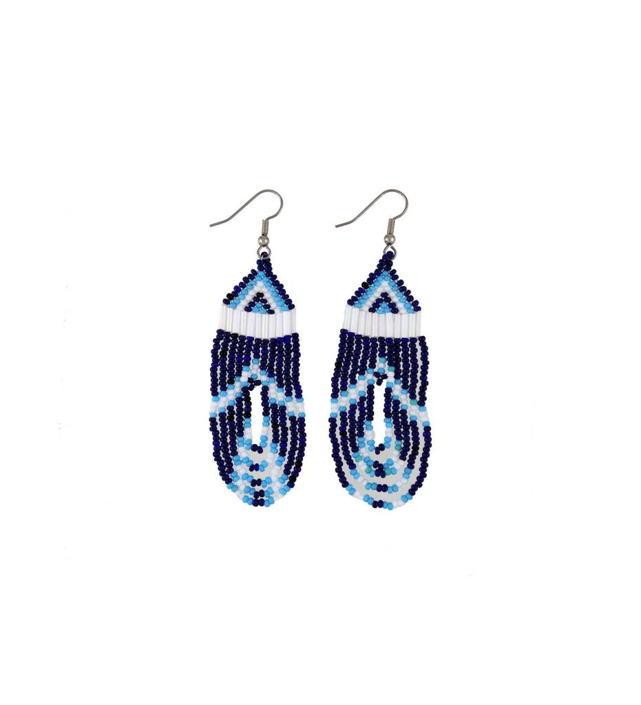 *EC Blue Beaded Earrings