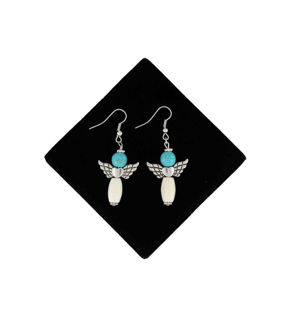 *BG Sterling Silver Turquoise Angel Earrings