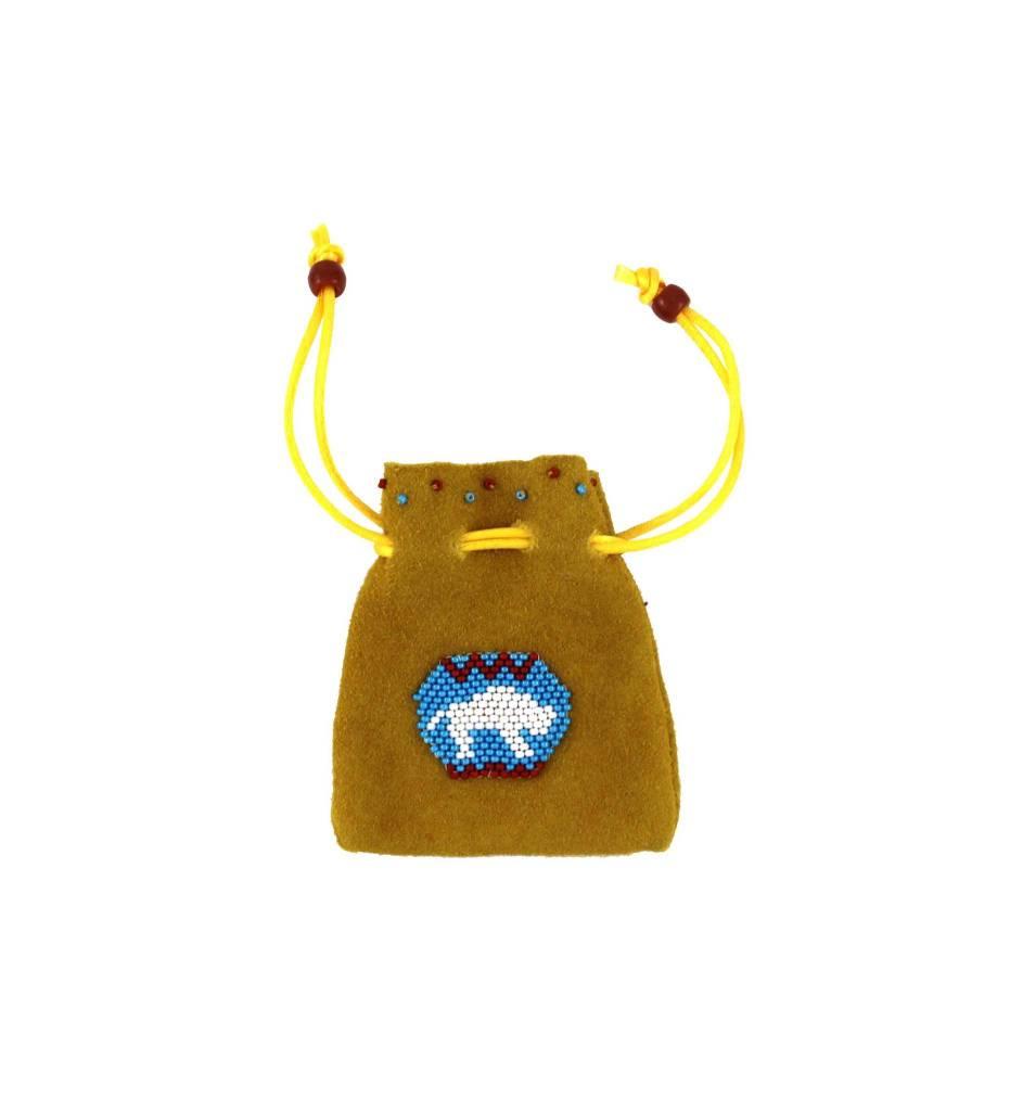 *AB Medium Medicine Bag with Beaded Buffalo
