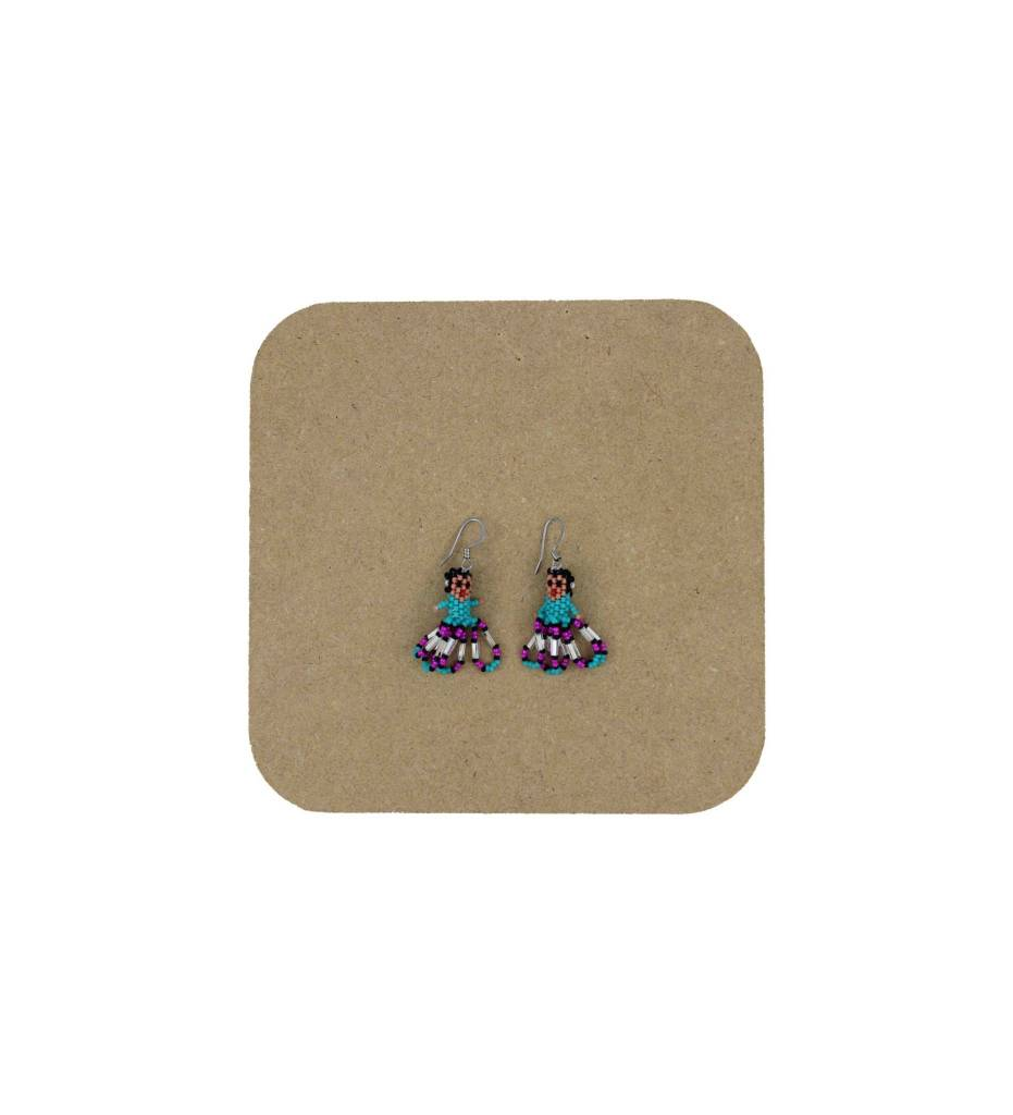 *AB Beaded Girl Earrings
