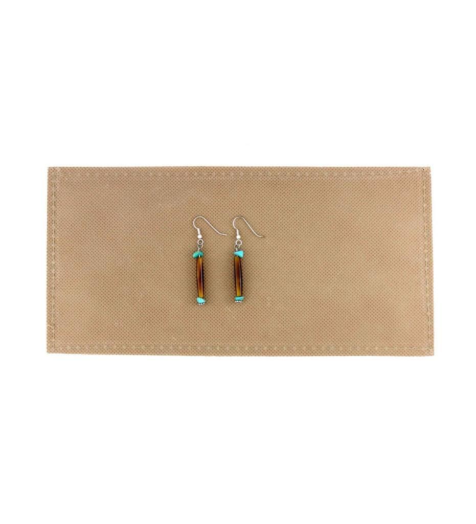 *BG Bone with Turquoise Nugget Earrings