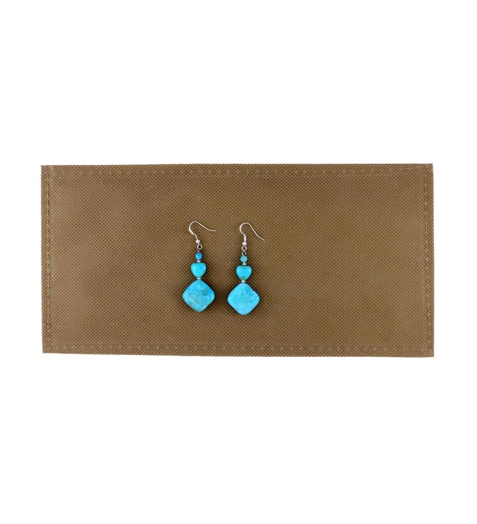 *BG Turquoise Beaded Sterling Earrings