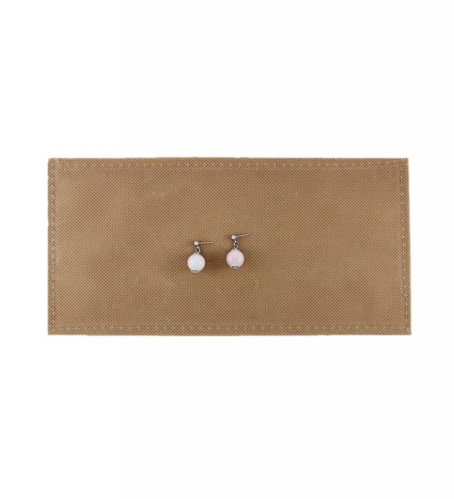 *BG Round Rose Quartz Beaded Earrings