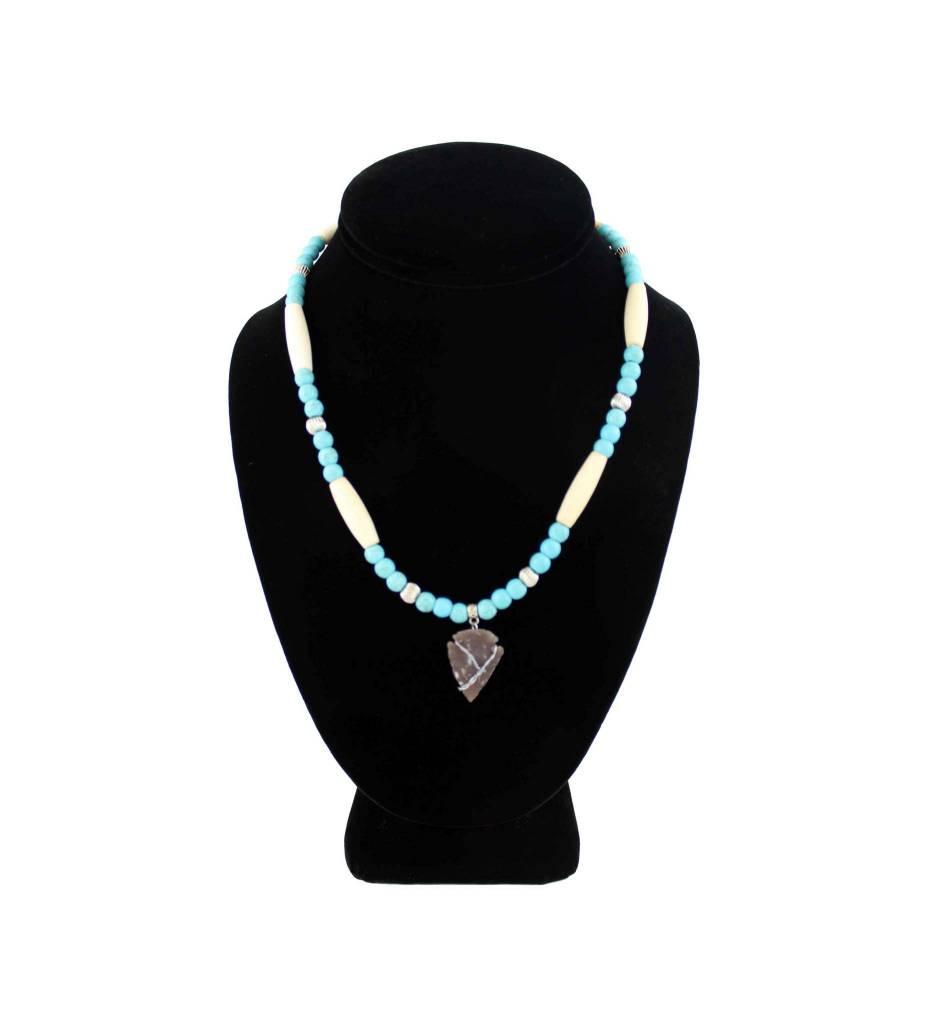 *BG Turquoise and Bone Necklace