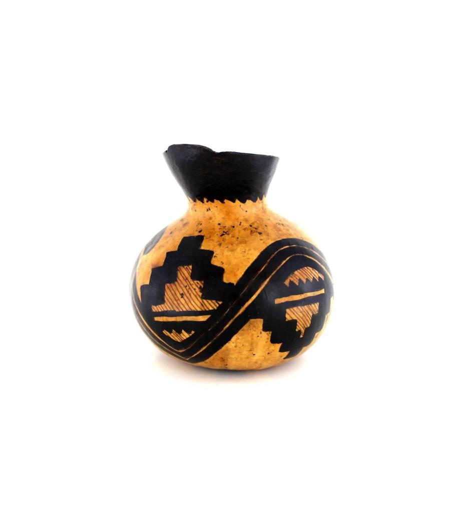 *JA Hand Painted Small Gourd Vase