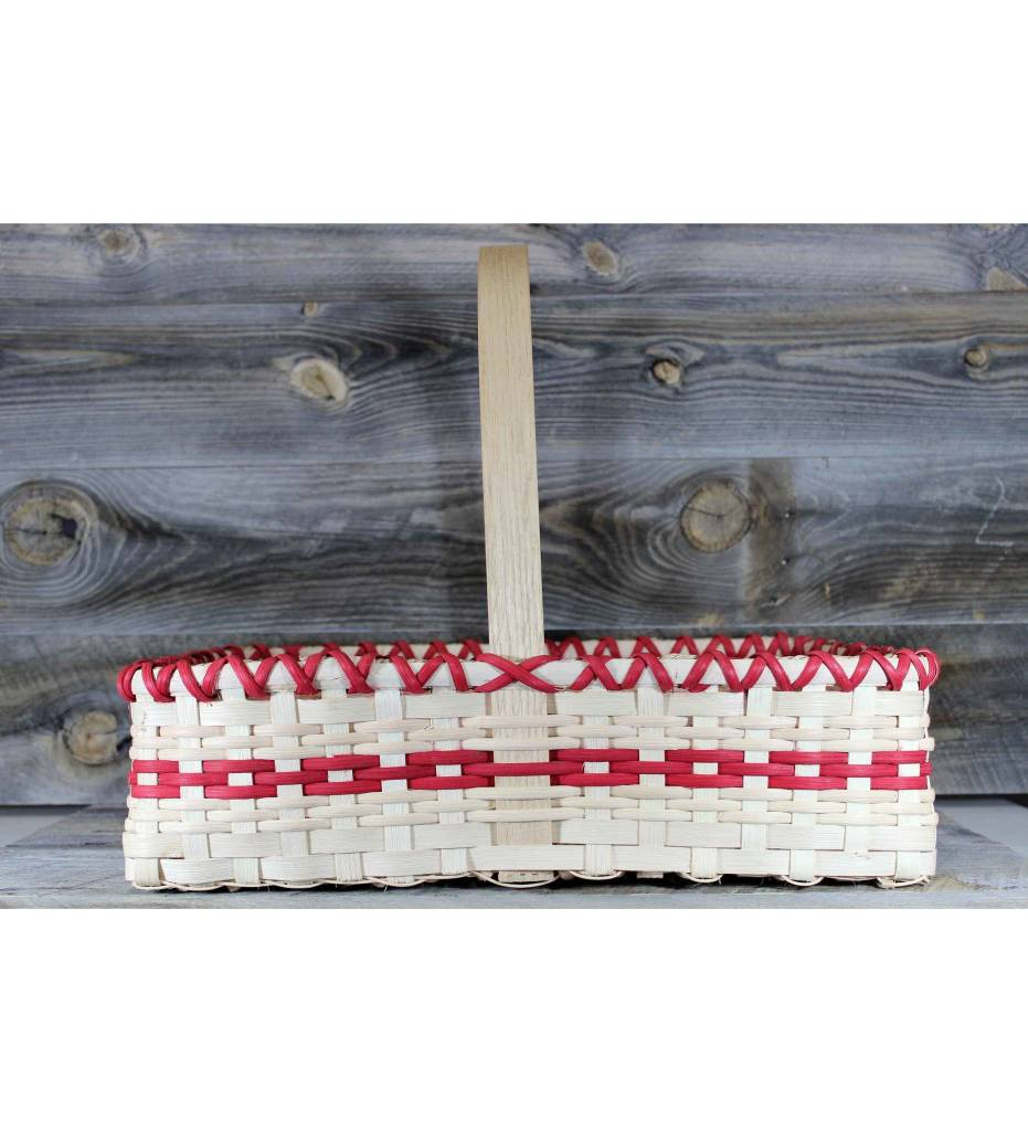 *LA Weaved Picnic Basket Red & Tan
