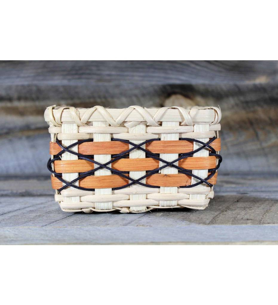 *LA Weaved Square Basket Tan, Brown & Black