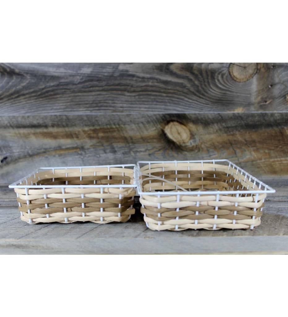 *LA 2 Weaved Tray Baskets
