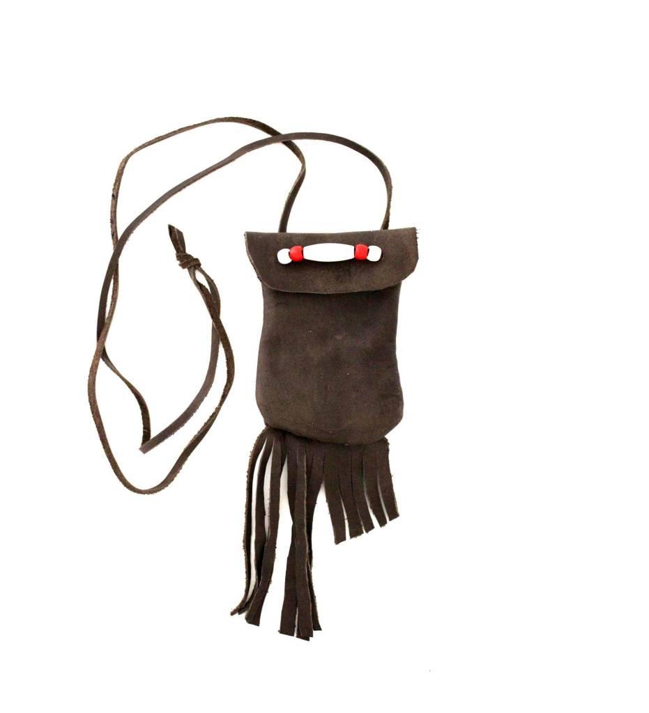 *JS Small Leather Hand Sewn Medicine Bag