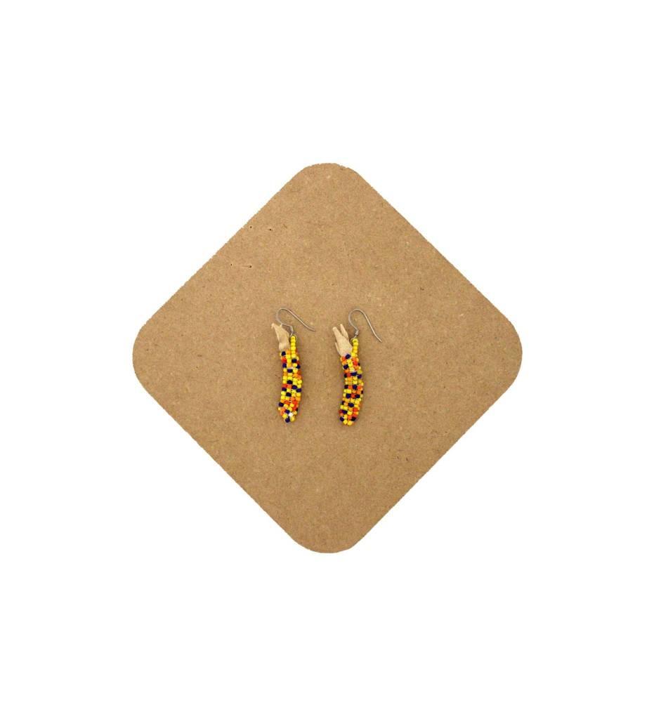 *AB Corn Beaded Earrings