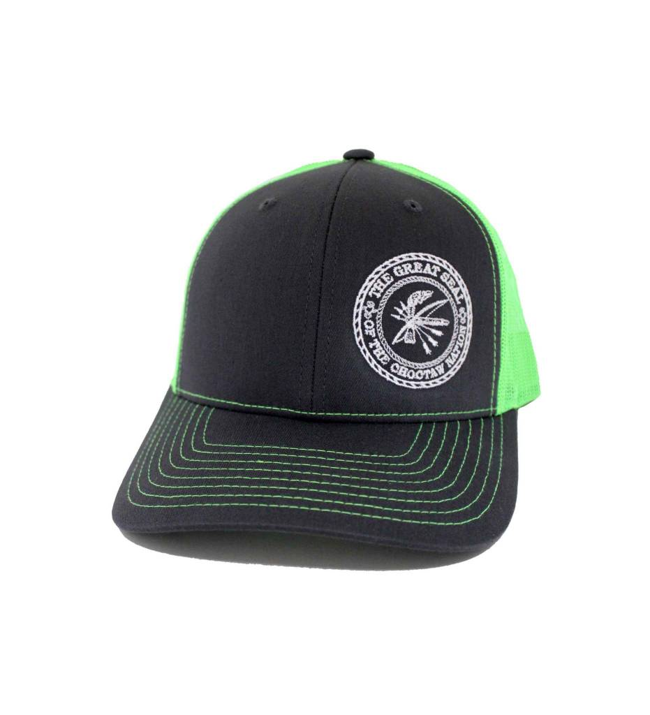 "Choctaw ""SEAL"" Cap Charcoal & Lime"
