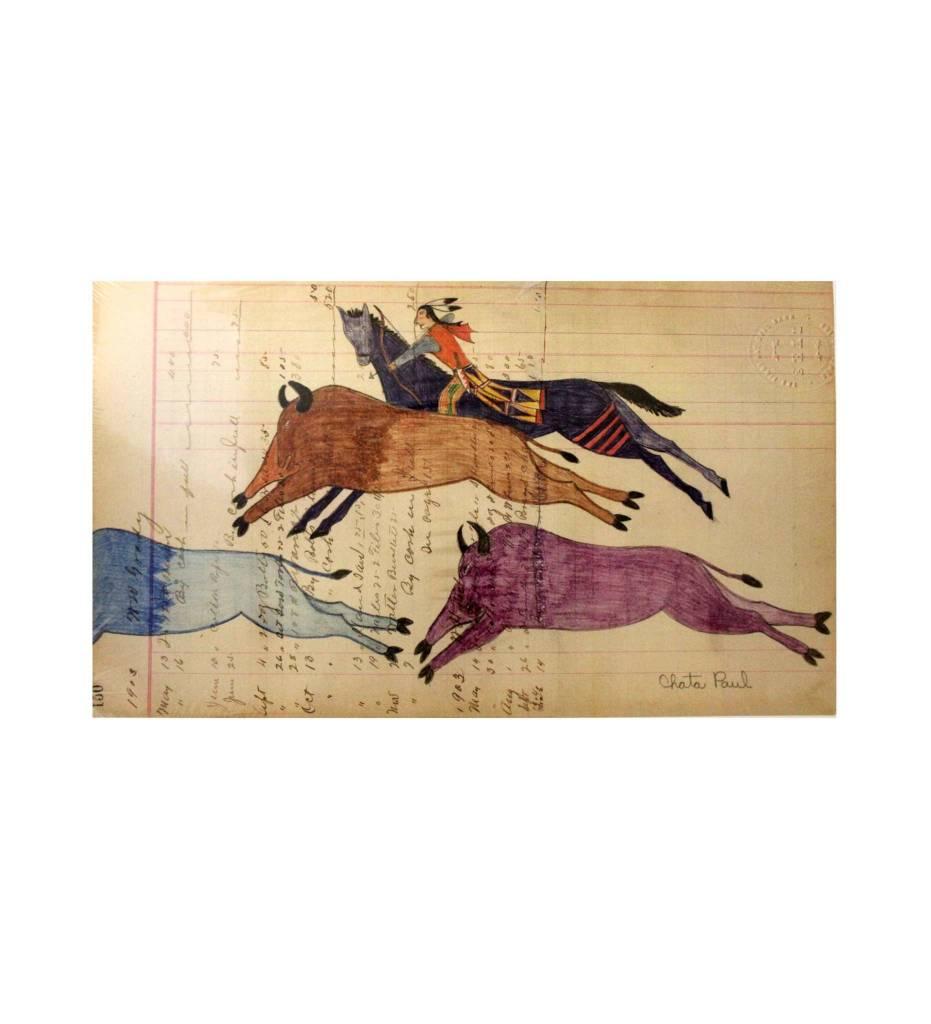 "PH Ledger Art Print, ""Buffalo Hunt"""