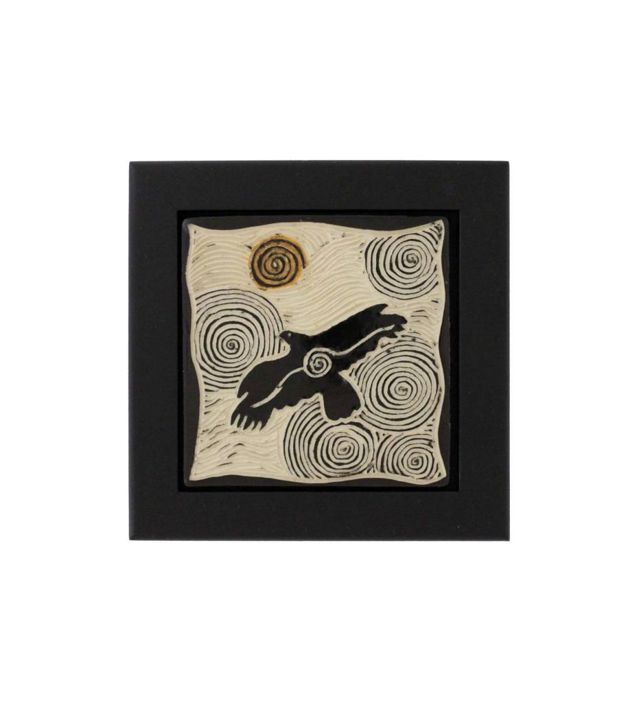 """*CBY 4"""" Framed Tile """"Raven"""""""