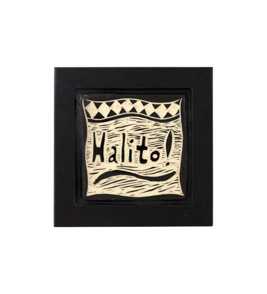"*CBY 4"" Framed Tile ""Halito"""