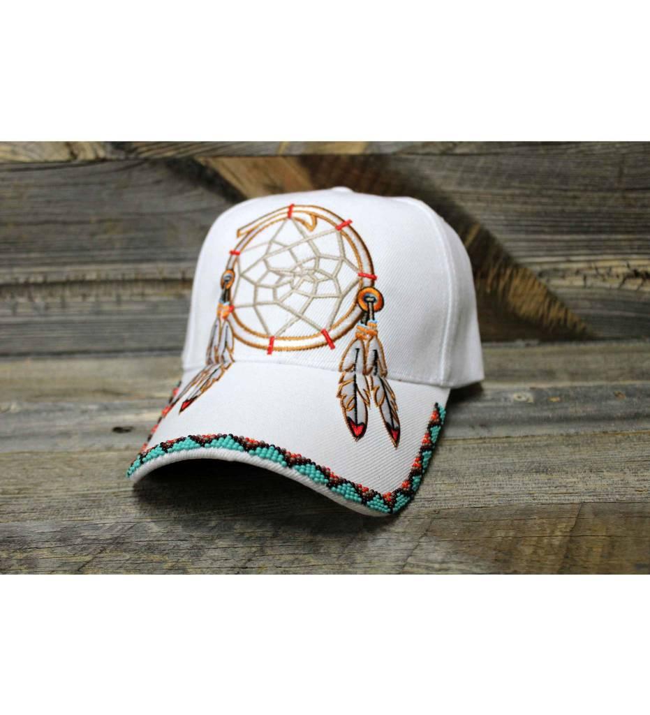 SL White Beaded Dreamcatcher Cap
