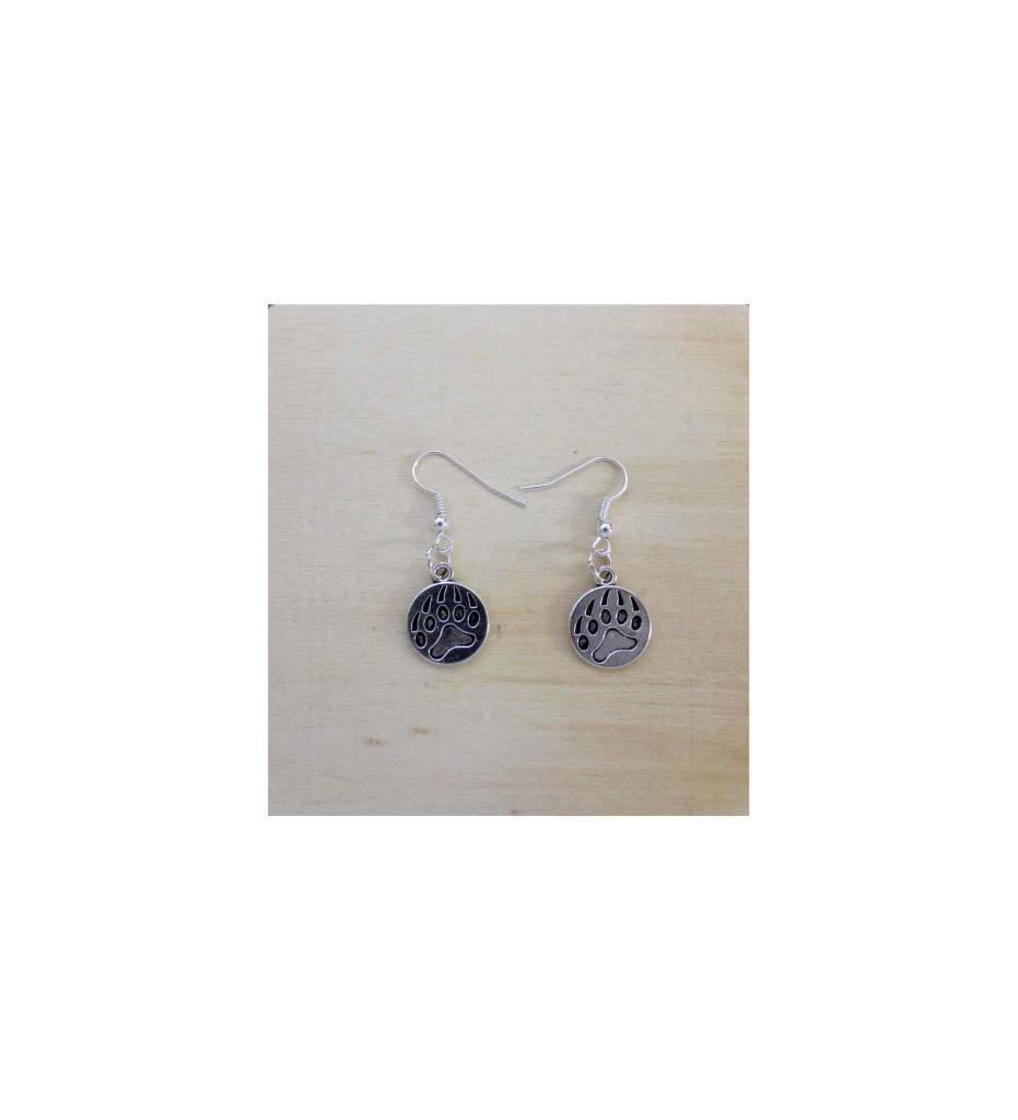 *JM Round Bear Claw Earrings # 18533