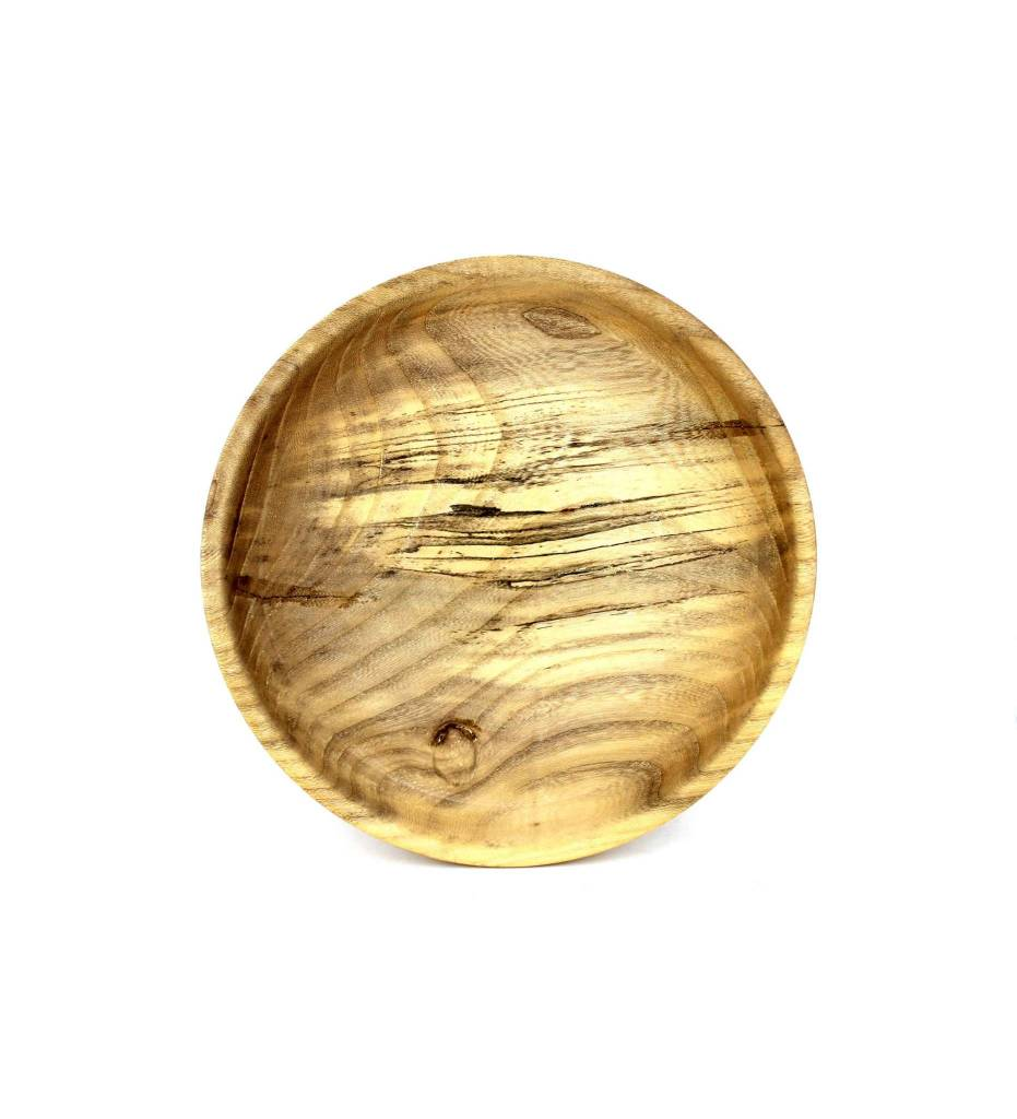 *KC Shallow Spalted Hackberry Bowl