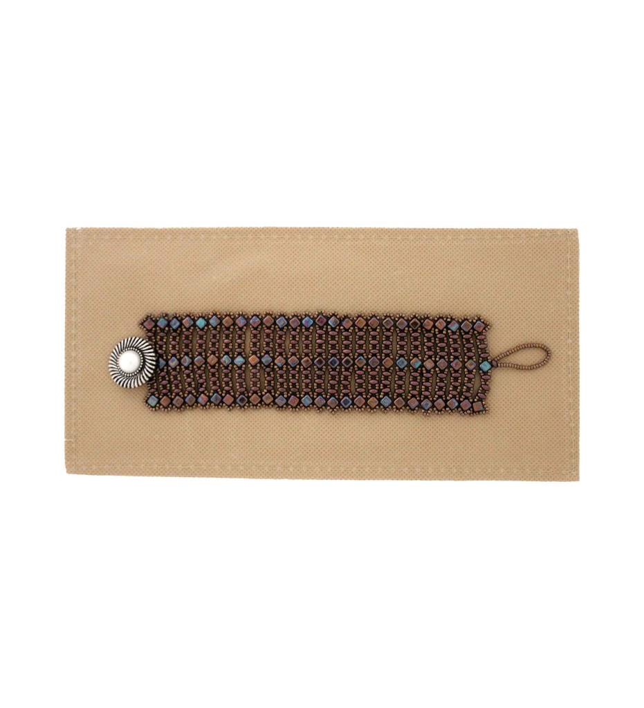 *JM Multi Brown Beaded Bracelet #18520
