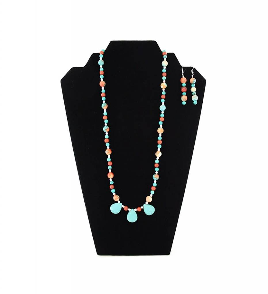 *JM White Howlite with Assorted Beads