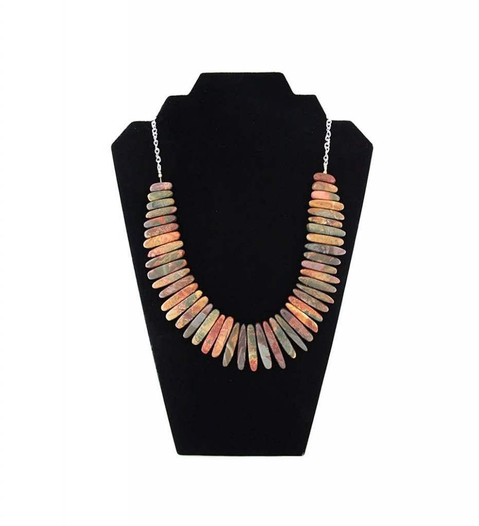 *JM African Jasper Stone Necklace