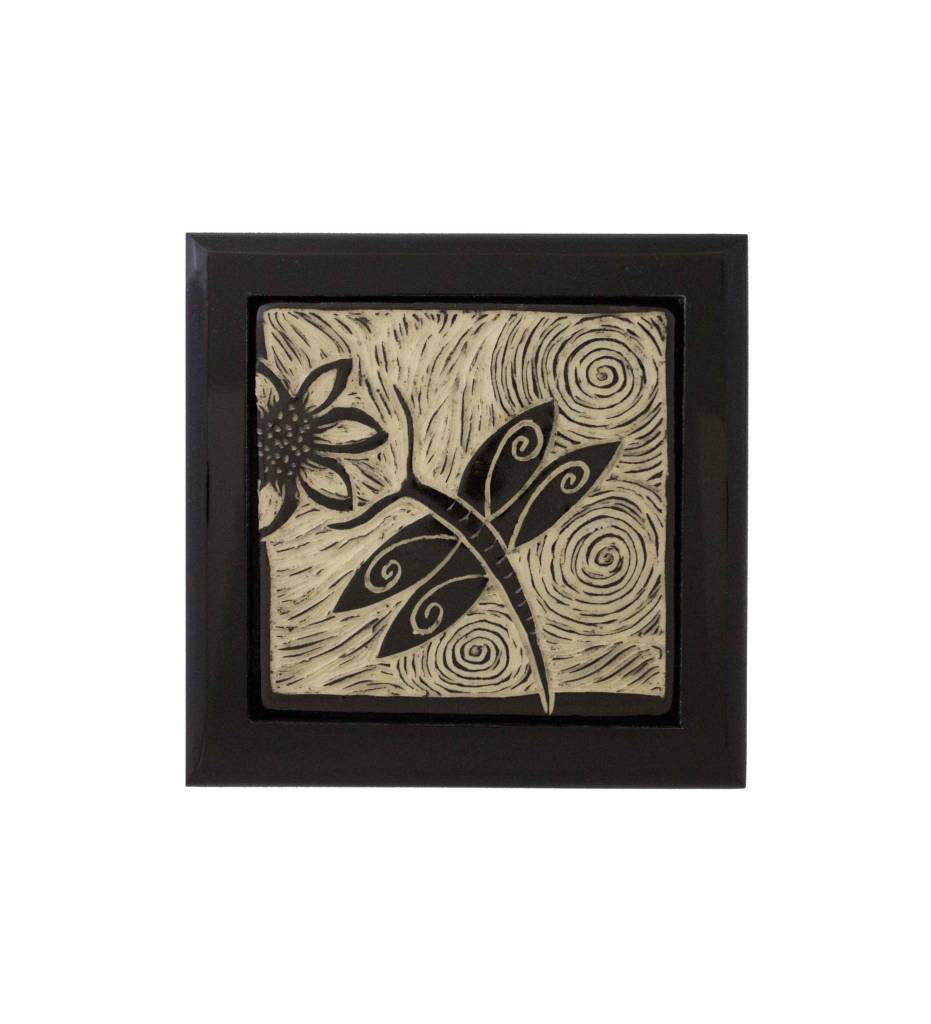 "*CBY Keepsake Box ""Dragon Fly"" Black & White"