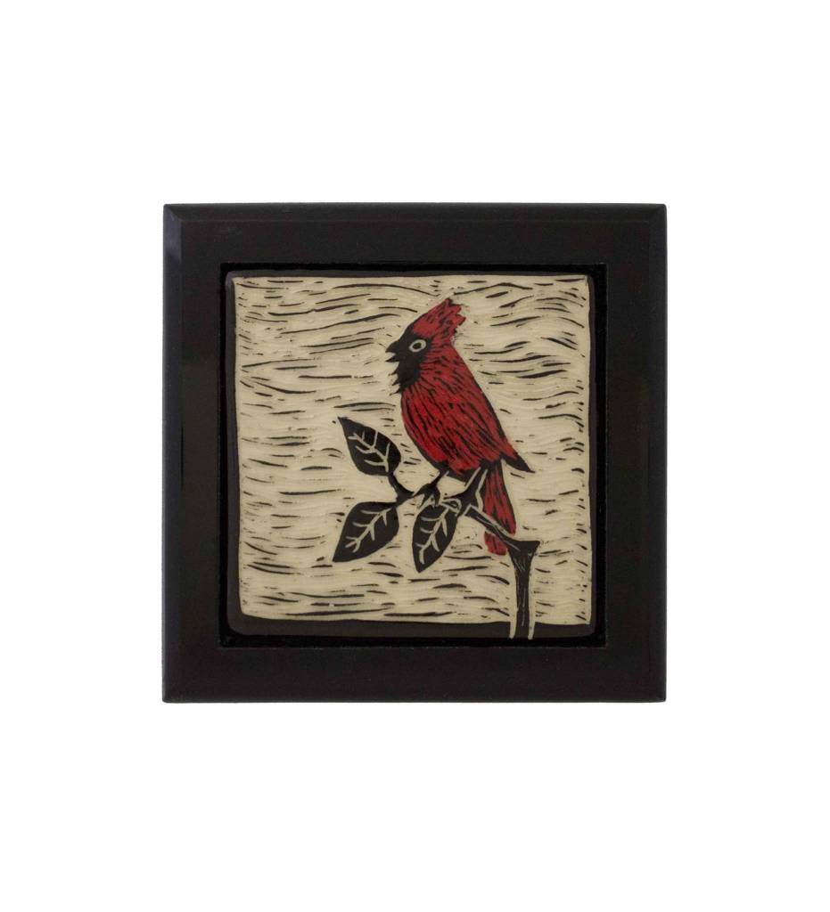 "*CBY Keepsake Box ""Cardinal"" Inlaid Color"