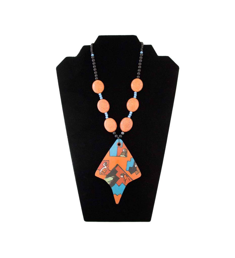 *KB Women of Mesa on Gourd & Beaded Necklace