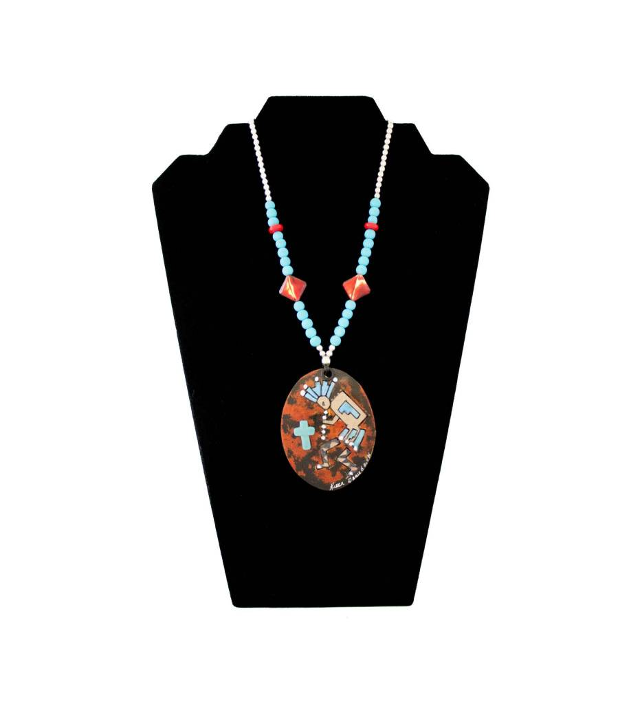 *KB KOKOPELLI on Gourd & Beaded Necklace