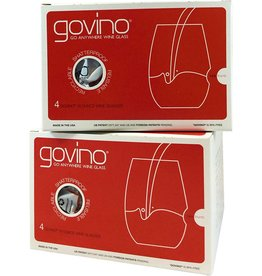 Govino 16-oz 4-pack glasses (red label)