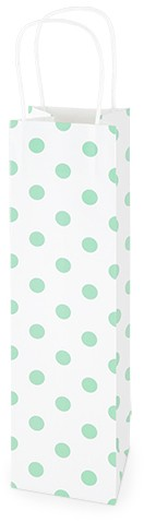 Kraft gift bag green dots