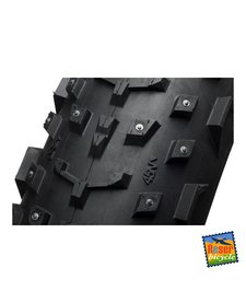 "45NRTH Dillinger 26x4.0"" Studded Fatbike Tire 60tpi Tubeless Ready Folding (240 steel carbide studs)"