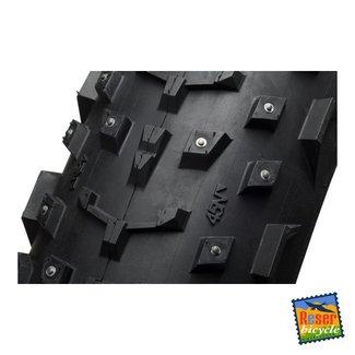 "45NRTH 45NRTH Dillinger 26x4.0"" Studded Fatbike Tire 60tpi Tubeless Ready Folding (240 steel carbide studs)"