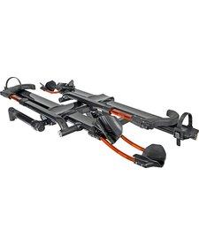 "Kuat NV 2.0 2-Bike Tray Hitch Rack: Metallic Gray and Orange, 2"" Receiver"