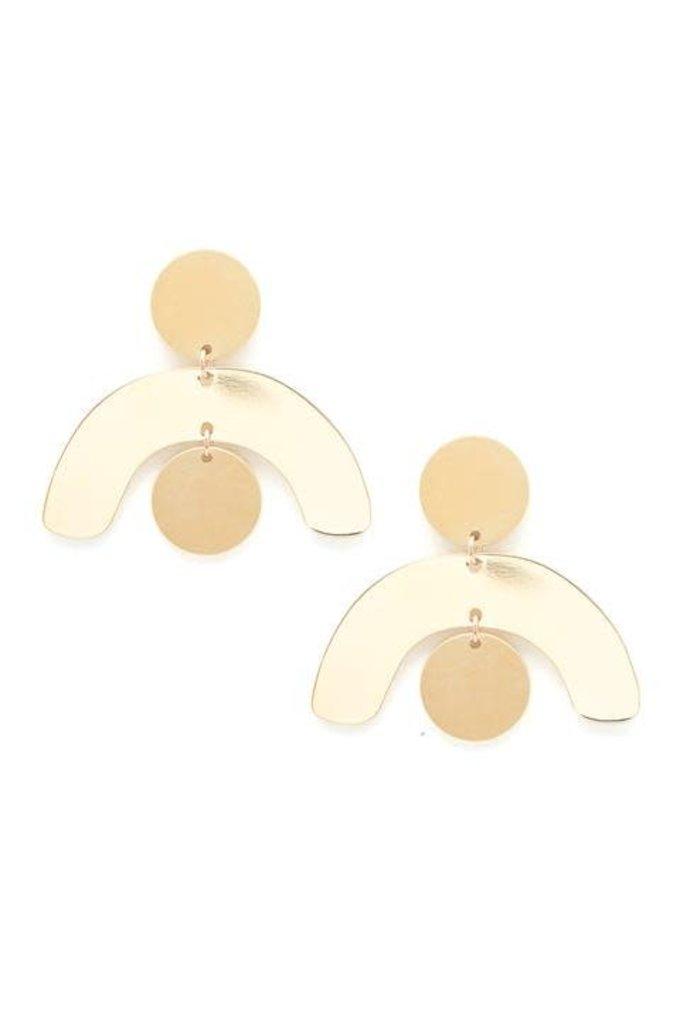 Baleen Mobile Earrings in Gold