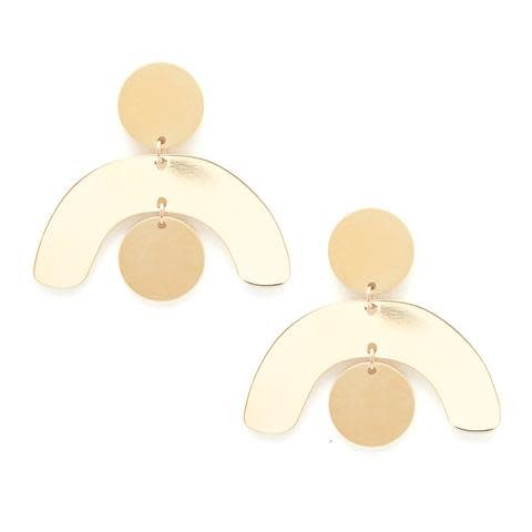 Baleen Mobile Earrings in Gold