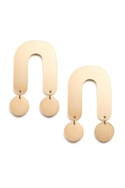 Baleen Atrium Earrings in Gold