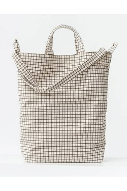 Baggu Duck Bag in Natural Grid