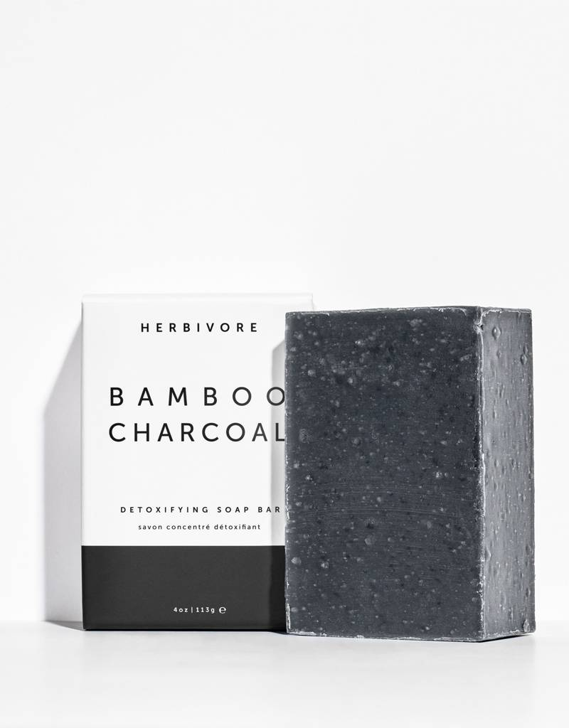 Herbivore Botanicals Bamboo Charcoal Face + Body Soap