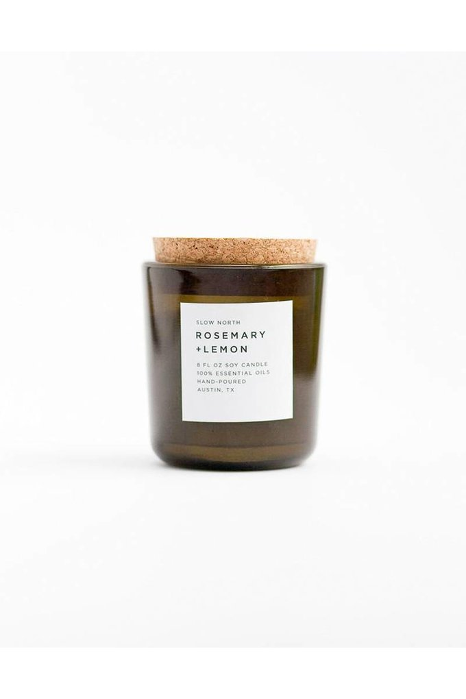 Slow North Rosemary + Lemon Soy Candle