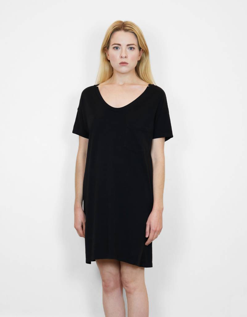 SkarGorn #60 Tee Dress in Black Wash