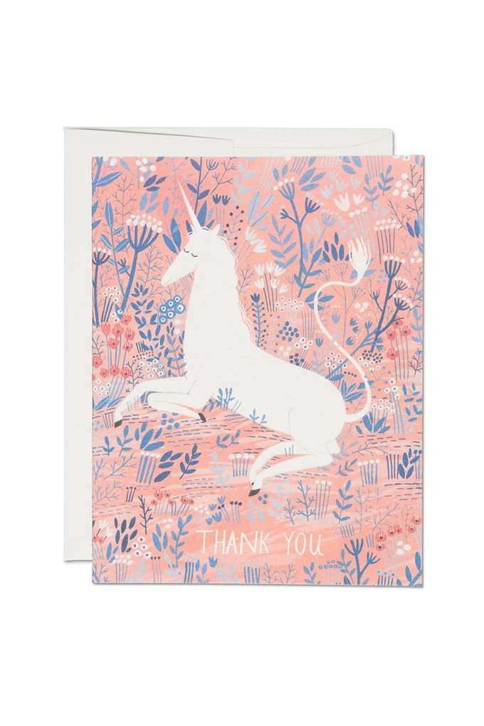 Red Cap Cards Unicorn Thank You Card