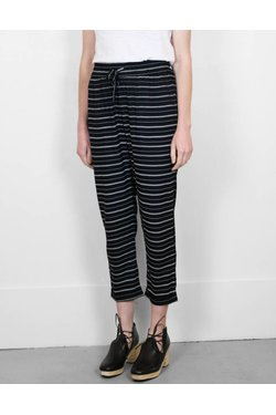 Lilya Brogan Pant in Thin Black Stripe