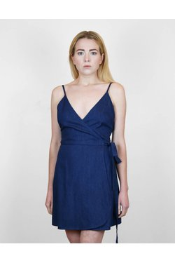 Lilya Reina Dress in Blue Denim
