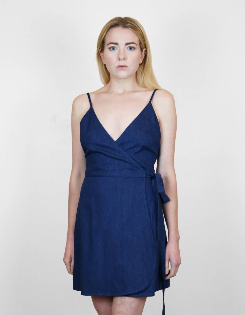 Lilya Reina Dress in Blue Denim