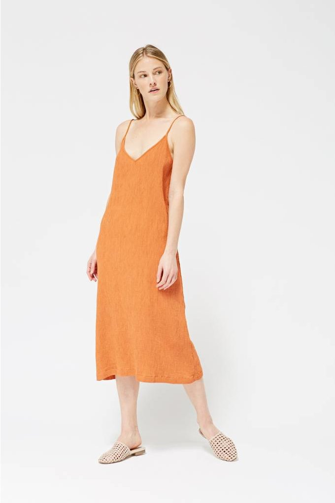 Lacausa Spice Slip Dress in Cayenne