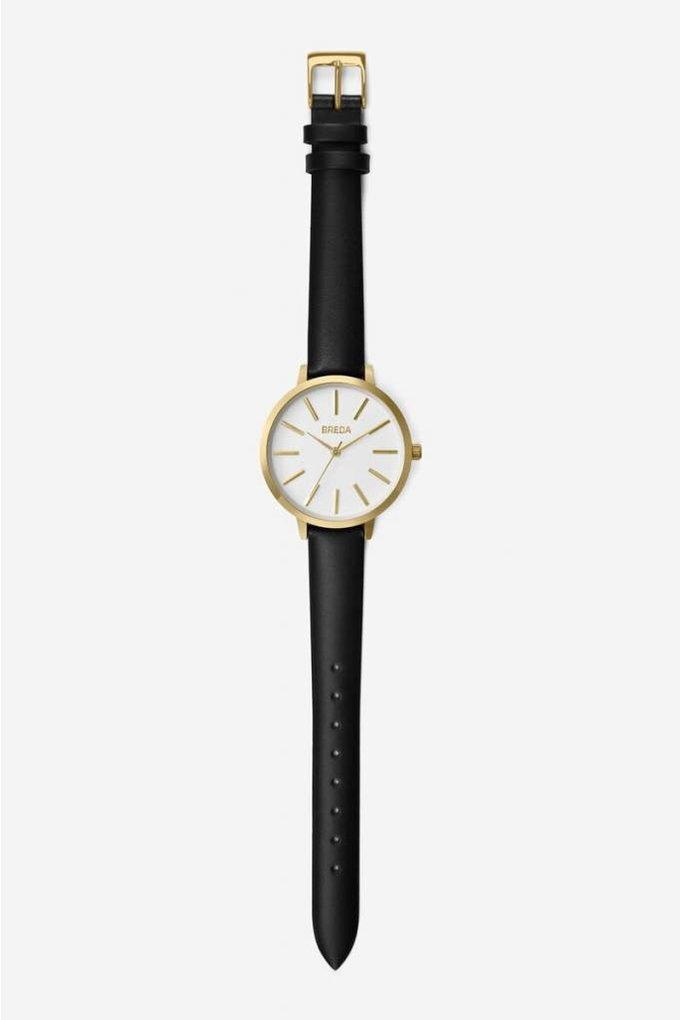 Breda Joule Watch in Gold + Black