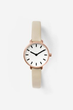 Breda Beverly Watch in Rose Gold + Taupe