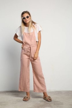 Lilya Karlie Overall in Dusty Pink